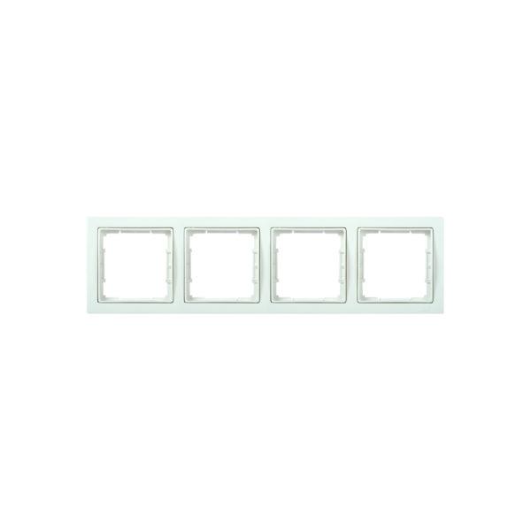 Рамка 4-местная квадратная РУ-4-ББ BOLERO Q1 белый IEK