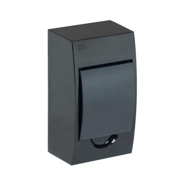 KREPTA 3 Корпус пластиковый ЩРН-П-4 IP41 черная дверь черный IEK