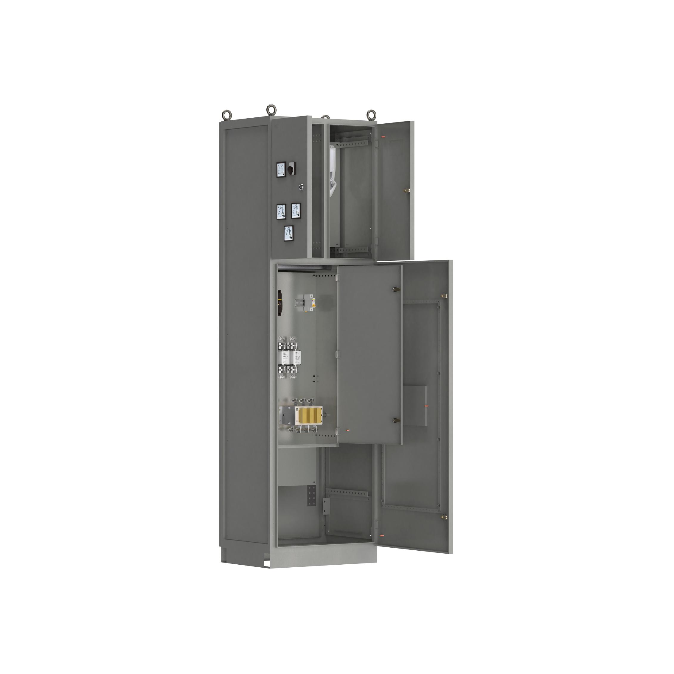 Панель вводная ВРУ-8503 МУ 2ВП-5-63-0-30 рубильник 1х630А плавкие вставки 3х630А выключатель автоматический 1Р 1х6А и учет IEK