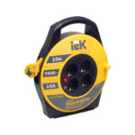 Катушка УК10 с термозащитой 4 места 2P+PE/10м 3х1,0мм2 INDUSTRIAL IEK 1