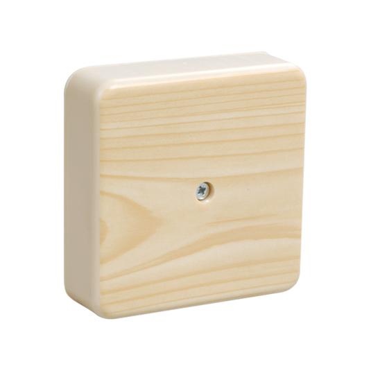 Коробка распаячная КМ41222-04 для открытой проводки 104х104х44мм сосна (6 клемм 6мм2) IEK