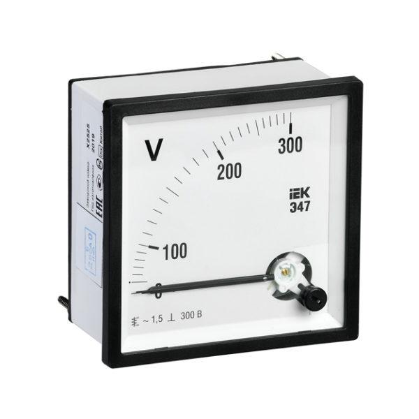 Вольтметр аналоговый Э47 300В класс точности 1,5 96х96мм IEK