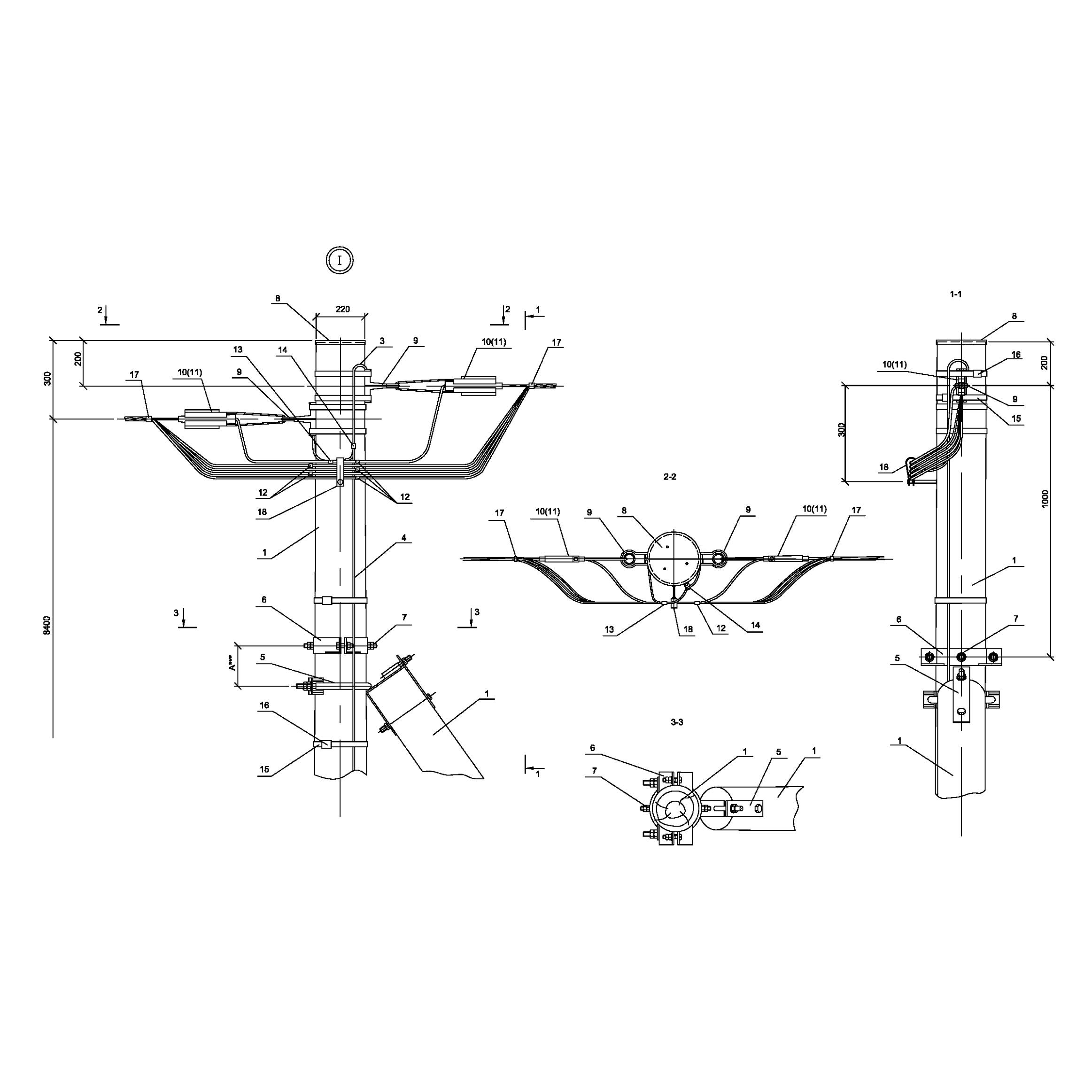 Опора ПАд151 деревянная анкерная переходная одноцепная IEK