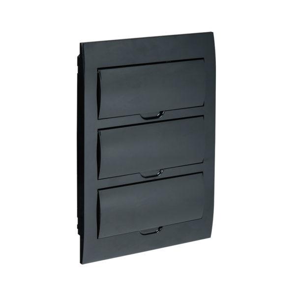 KREPTA 3 Корпус пластиковый ЩРВ-П-36 IP41 черная дверь черный IEK