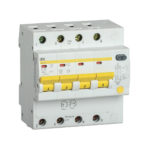 Дифференциальный автоматический выключатель АД14S 4Р 25А 100мА IEK
