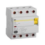 Выключатель дифференциальный (УЗО) ВД1-63 4Р 63А 100мА тип А IEK 1