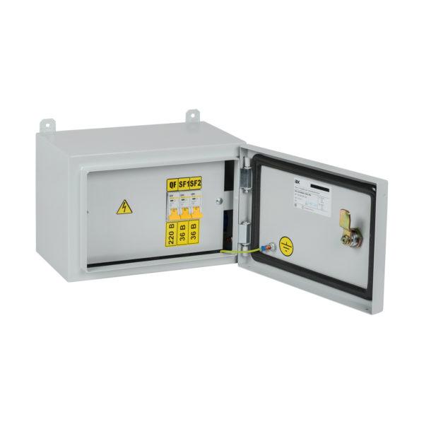 Ящик с понижающим трансформатором ЯТП-0,25 230/36-3 УХЛ2 IP54 IEK