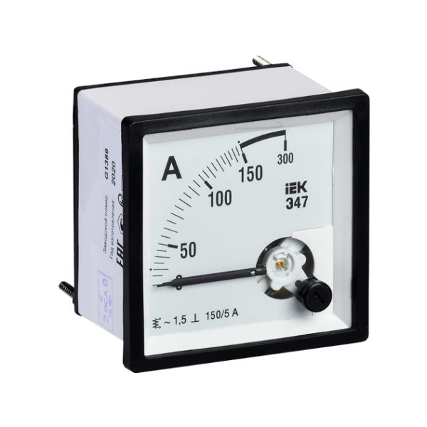 Амперметр аналоговый Э47 150/5А класс точности 1,5 72х72мм IEK