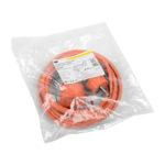 Шнур УШ-01РВ с вилкой и розеткой 2P+PE/5м 3х1,0мм2 IP44 оранжевый IEK 2