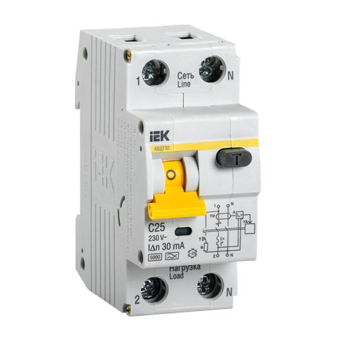 Автоматический выключатель дифференциального тока АВДТ32 C25 IEK