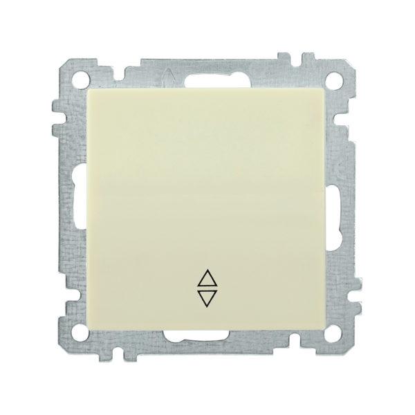 Выключатель 1-клавишный проходной ВС10-1-2-Б 10А BOLERO кремовый IEK