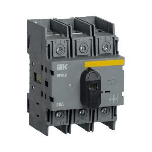 Выключатель-разъединитель модульный ВРМ-2 3P 80А IEK