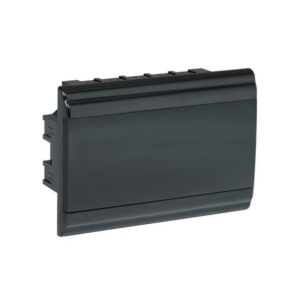 Корпус модульный пластиковый встраиваемый ЩРВ-П-12 PRIME черный IP41 IEK