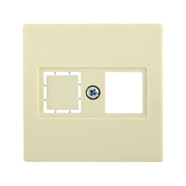 Накладка телефонная НТ12-1-БК RJ12/HDMI BOLERO кремовый IEK