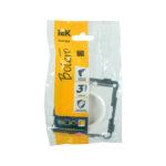 Розетка без заземляющего контакта РС10-1-0-Б 10А BOLERO белый IEK