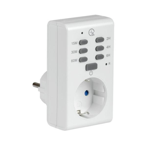 Розетка-таймер электронный РТЭ-2 с индикацией 15мин-6ч 16А IP20 IEK