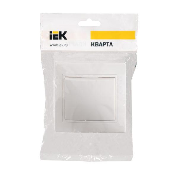 Выключатель 1-клавишный ВС10-1-0-КБ 10А керамика КВАРТА белый IEK