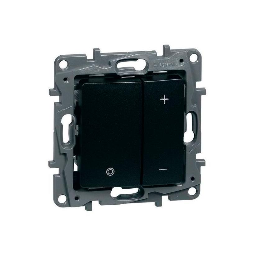 Светорегулятор клавишный Legrand ETIKA, 400 Вт 20-400 Вт/ВА, клавишный, с возможностью управления с 2-х мест, антрацит