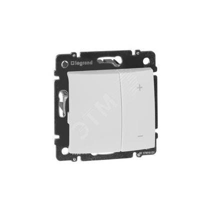 Светорегулятор клавишный Legrand VALENA, 600 Вт, белый