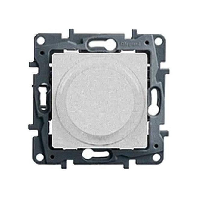 Светорегулятор Legrand ETIKA, 300 Вт, для LED 5-75 ВА Etika, поворотно-нажимной, с возможностью управления с 2-х мест, белый