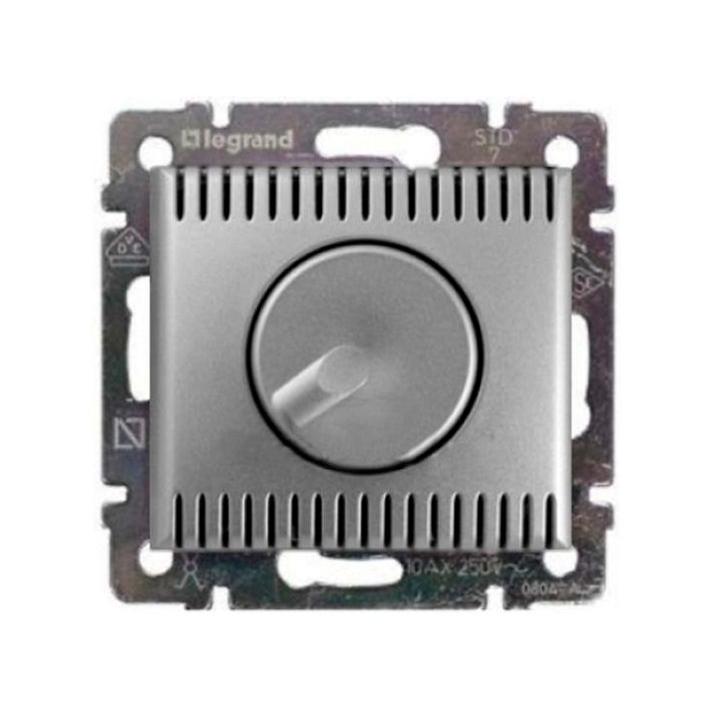 Светорегулятор поворотно-нажимной Legrand VALENA, 1000 Вт,  с возможностью управления с 2-х мест, алюминий