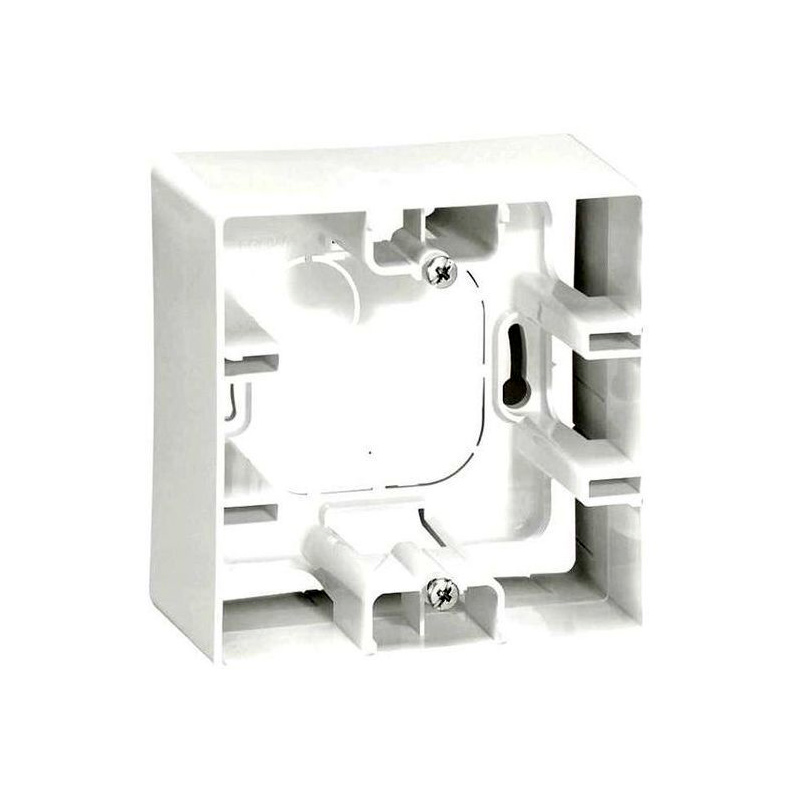 Etika Коробка 1-ная для накладного монтажа, бел.