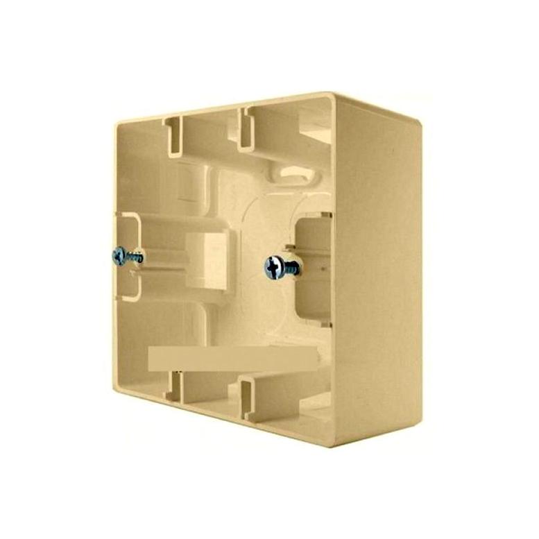 Etika Коробка 1-ная для накладного монтажа, сл. кость
