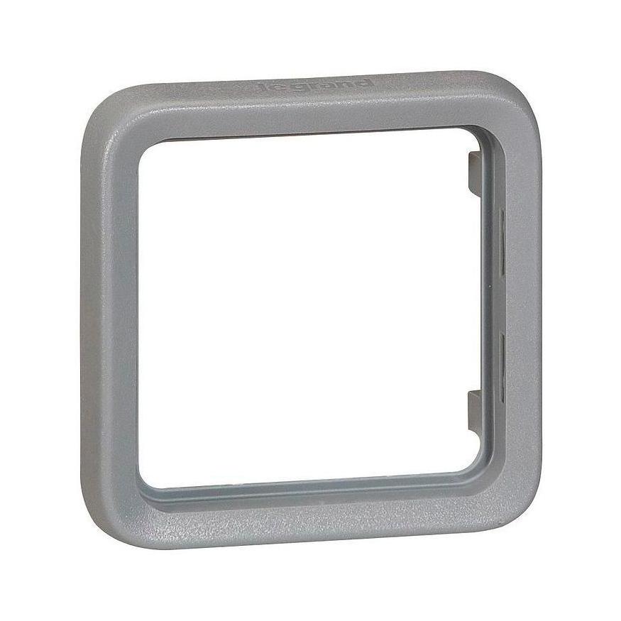 Plexo55 Коробка 1-ная для накл. монтажа с сальниками, серая