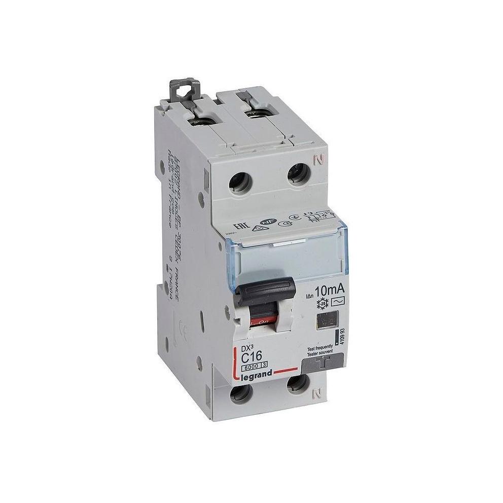 Дифавтомат Legrand DX³ 1P+N 16А (C) 10кА 10мА (AC)