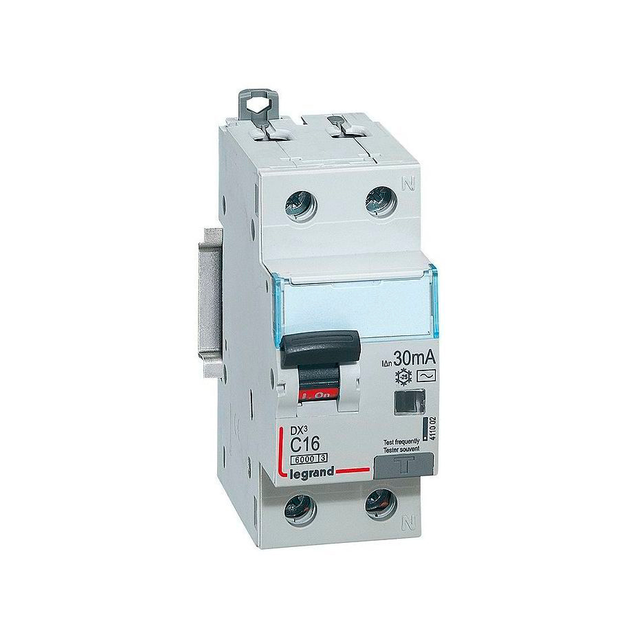 Дифавтомат Legrand DX³ 2P 16А (C) 10кА 30мА (AC)