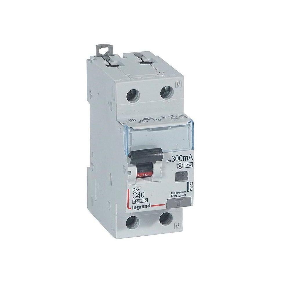 Дифавтомат Legrand DX³ 1P+N 40А (C) 10кА 300мА (AC)