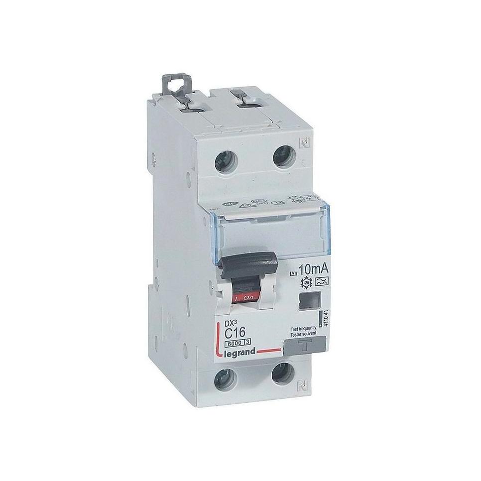 Дифавтомат Legrand DX³ 1P+N 16А (C) 10кА 10мА (A)