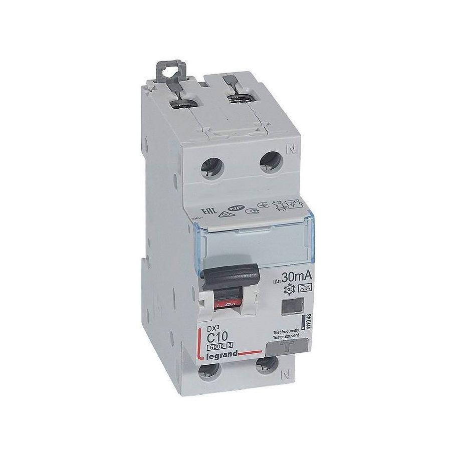 Дифавтомат Legrand DX³ 1P+N 10А (C) 10кА 30мА (A)
