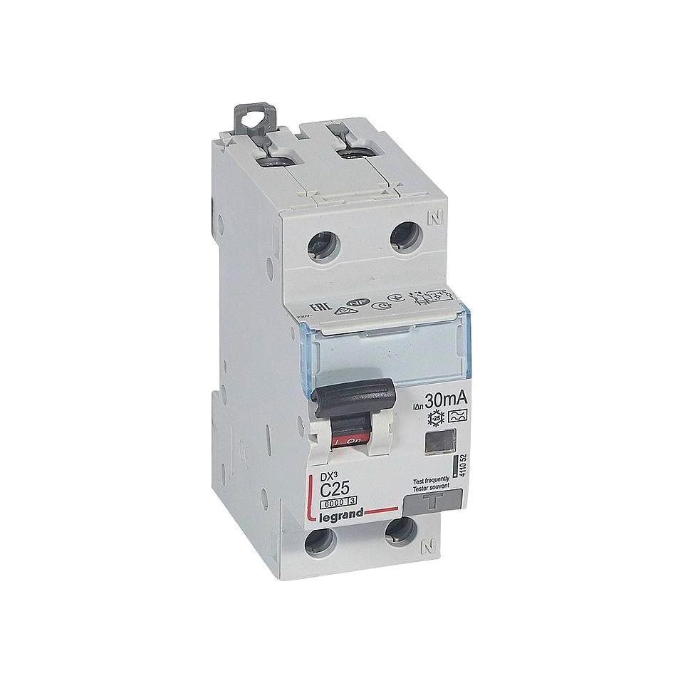 Дифавтомат Legrand DX³ 1P+N 25А (C) 10кА 30мА (A)
