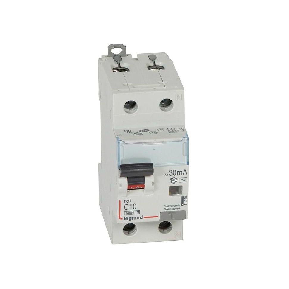 Дифавтомат Legrand DX³ 2P 10А (C) 10кА 30мА (AC)
