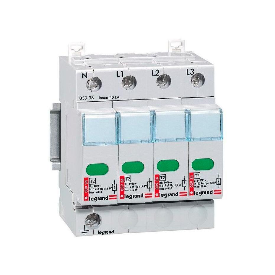 Устройство защиты от импульсных перенапряжений - защита повышенного уровня - Imax 40 кА - 4П