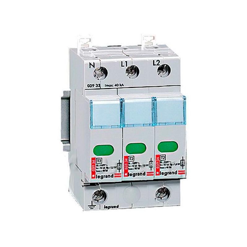 Устройство защиты от импульсных перенапряжений - защита повышенного уровня - Imax 40 кА - 3П
