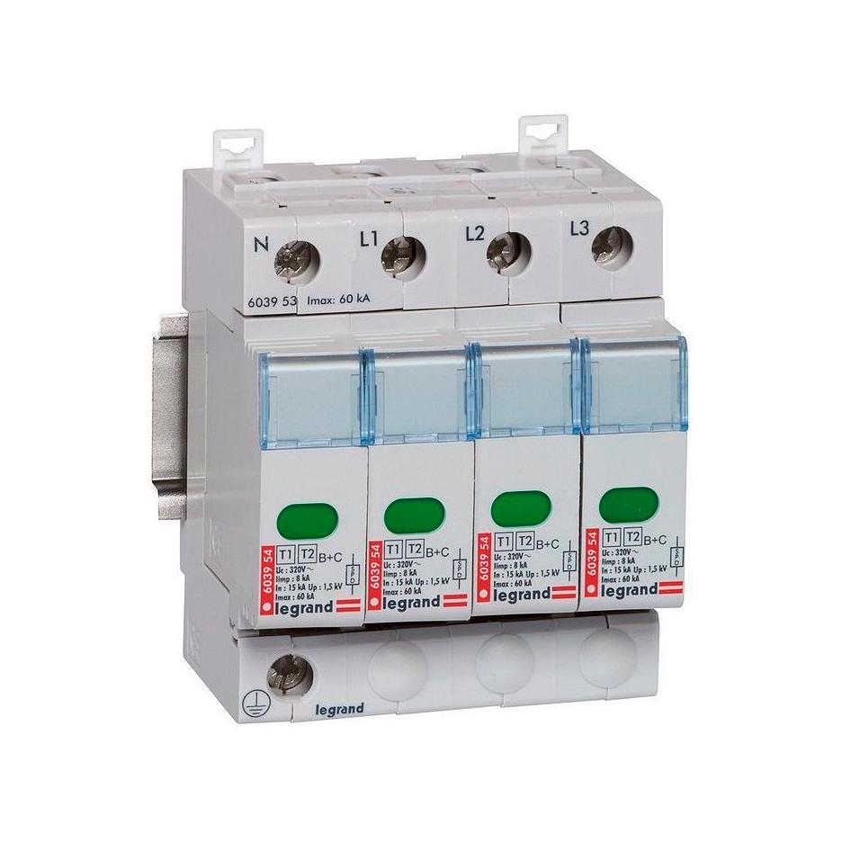 Устройство защиты от импульсных перенапряжений - класс 1+2 - Iimp 8 кА - 4П