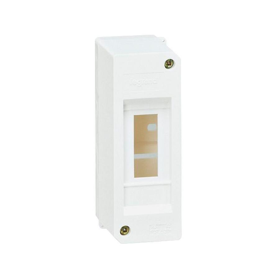 Распределительный шкаф Legrand Mini S, 2 мод., IP30, навесной, пластик, дверь