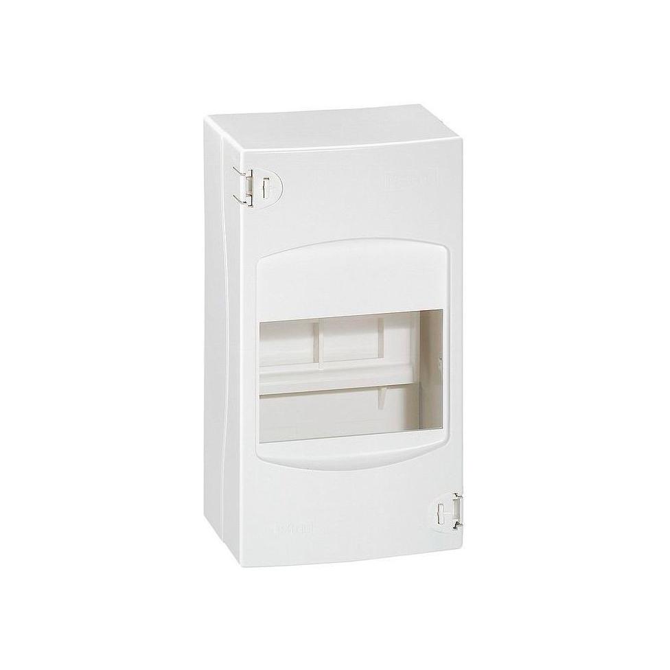 Распределительный шкаф Legrand Mini S, 4 мод., IP30, навесной, пластик, дверь