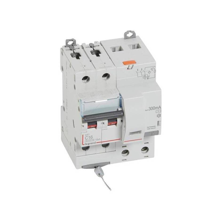 Дифавтомат Legrand DX³ 2P 16А (C) 6кА 300мА (AC)