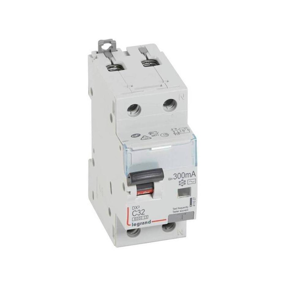 Дифавтомат Legrand DX³ 1P+N 32А (C) 6кА 300мА (AC)