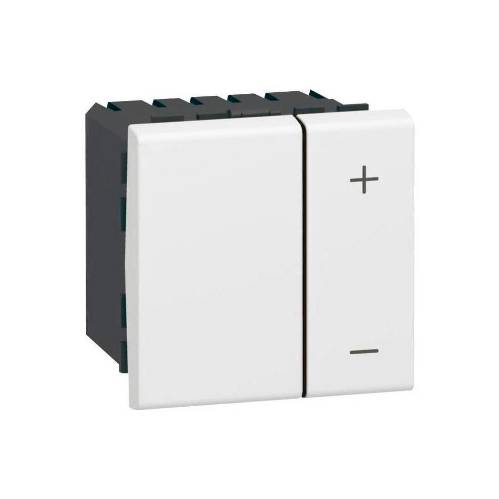 Светорегулятор Legrand MOSAIC, 400 Вт, для LED 3-75 ВА Mosaic, клавишный, с возможностью управления с 2-х мест, белый
