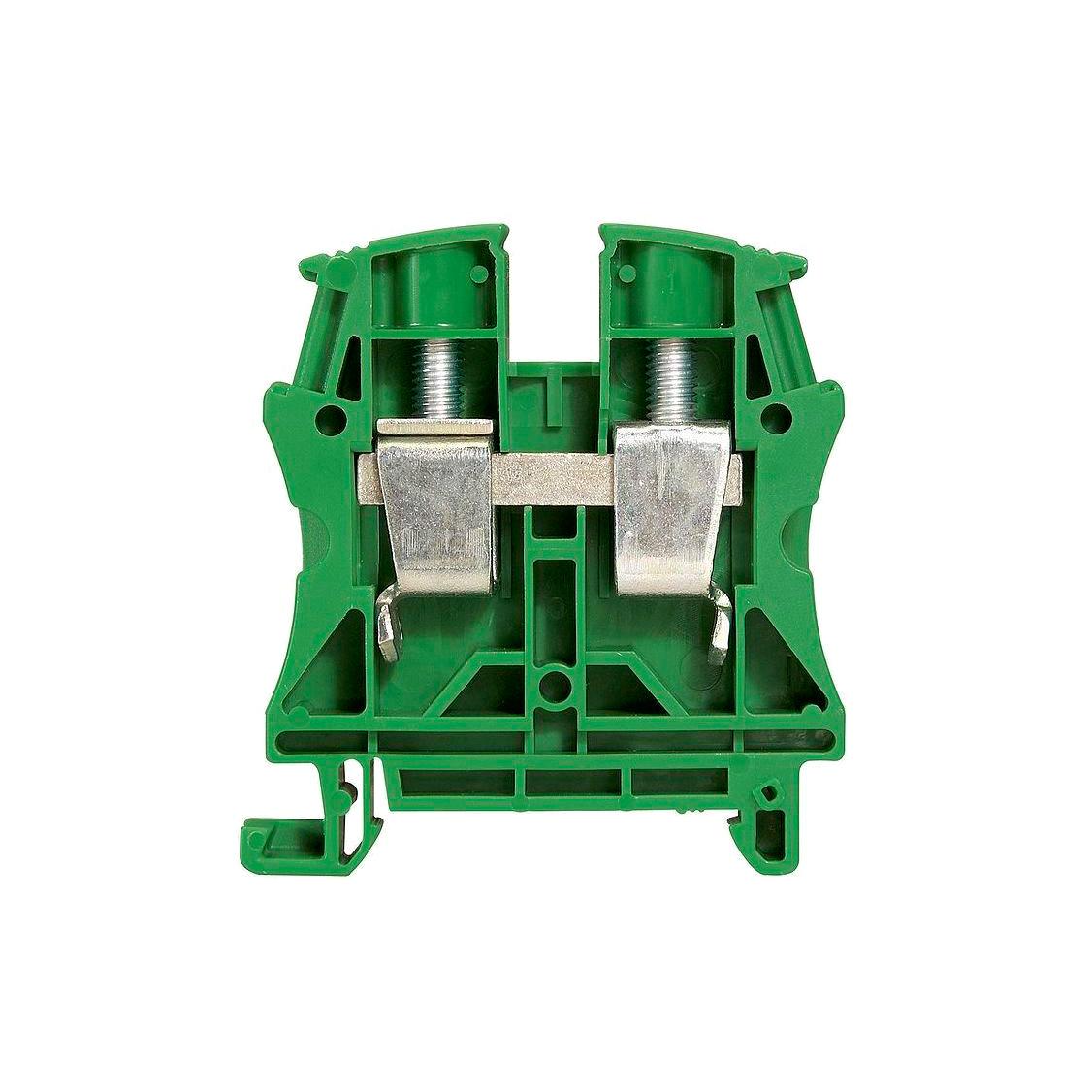 Клемма для заземления с винтовым зажимом Legrand Viking 3 35 мм², зеленый, 037199