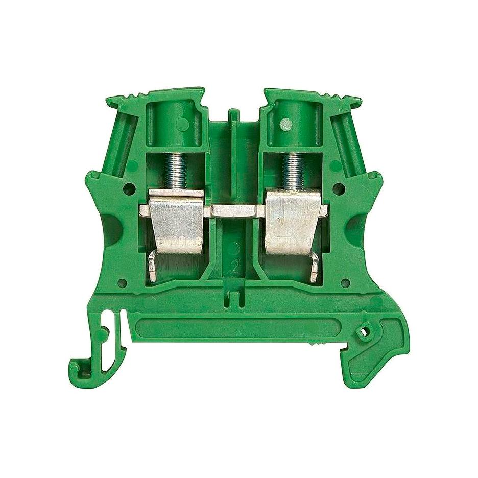 Клемма для заземления с винтовым зажимом Legrand Viking 3 4 мм², зеленый, 037177