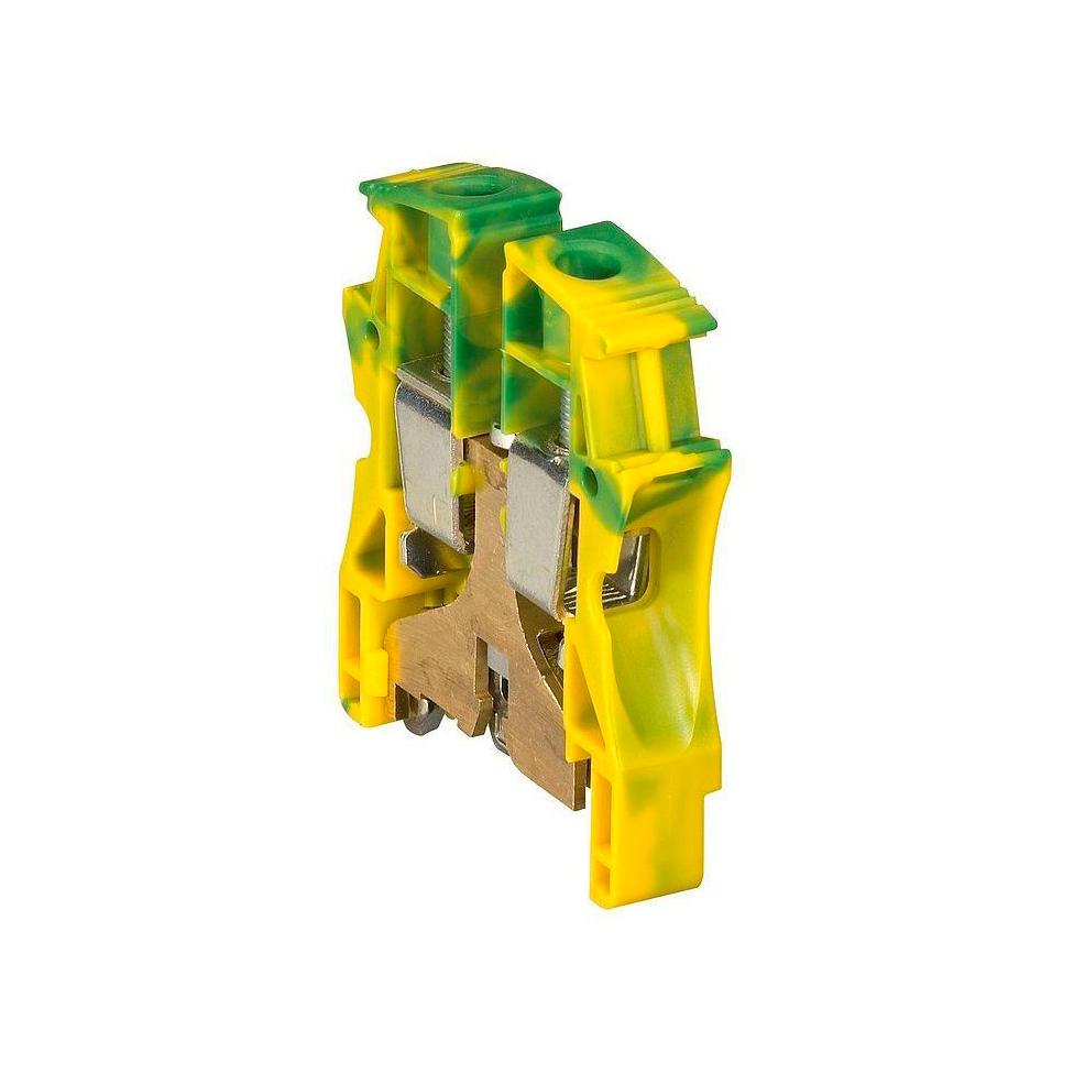 Клемма для заземления с винтовым зажимом Legrand Viking 3 35 мм², желто-зеленый, 037175