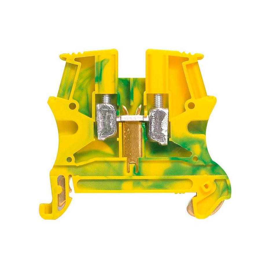 Клемма для заземления с винтовым зажимом Legrand Viking 3 10 мм², желто-зеленый, 037173