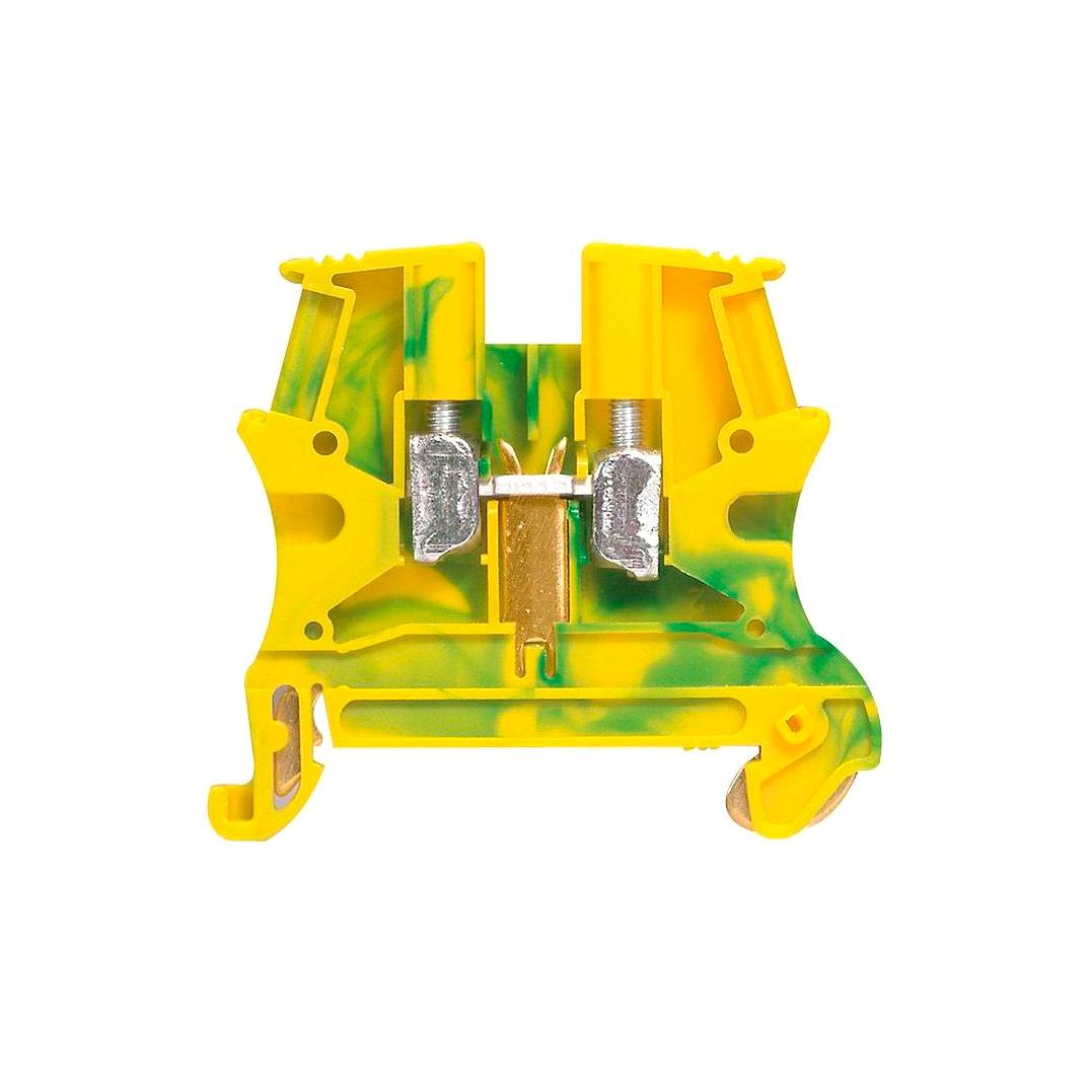 Клемма для заземления с винтовым зажимом Legrand Viking 3 6 мм², желто-зеленый, 037172