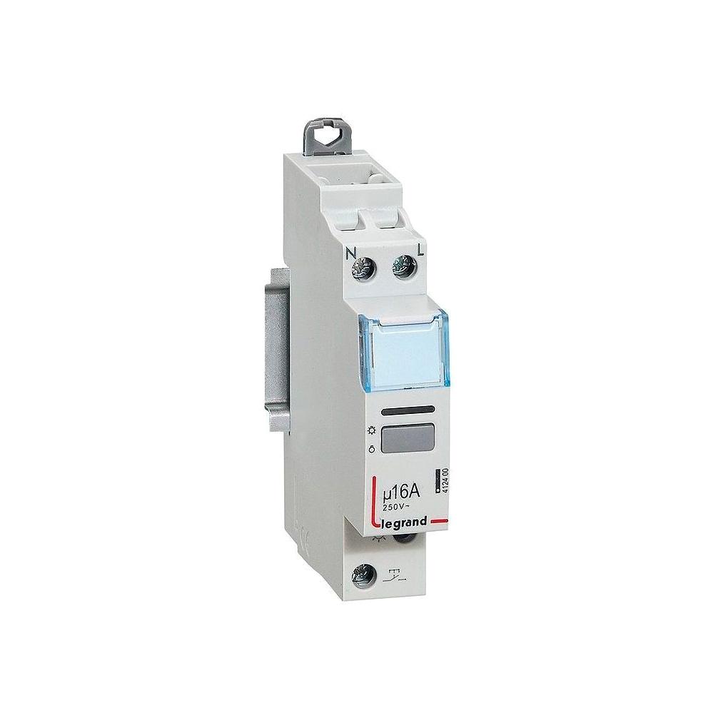 Импульсное реле - 1П - 16 А - 250 В~ - цепь управления 230 В - 1 Н.О. - 1 модуль - малошумное