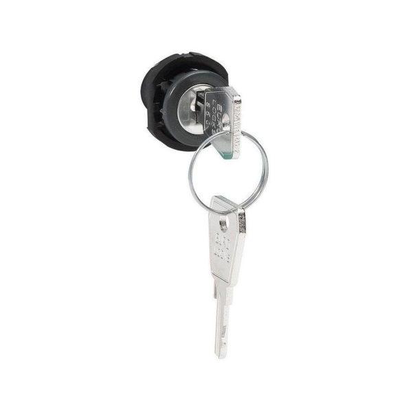 Замок и ключ № 850 - для сборных щитков Hypra